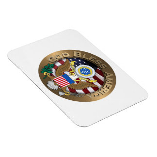 United States of America Seal - God Bless America Magnets