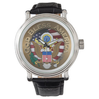 United States of America Seal - God Bless America Watch