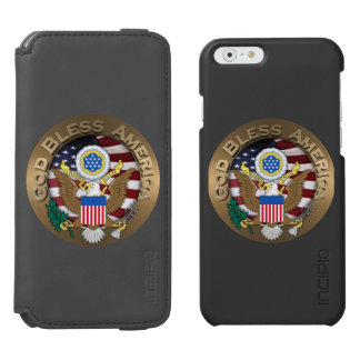 United States of America Seal - God Bless America Incipio Watson™ iPhone 6 Wallet Case
