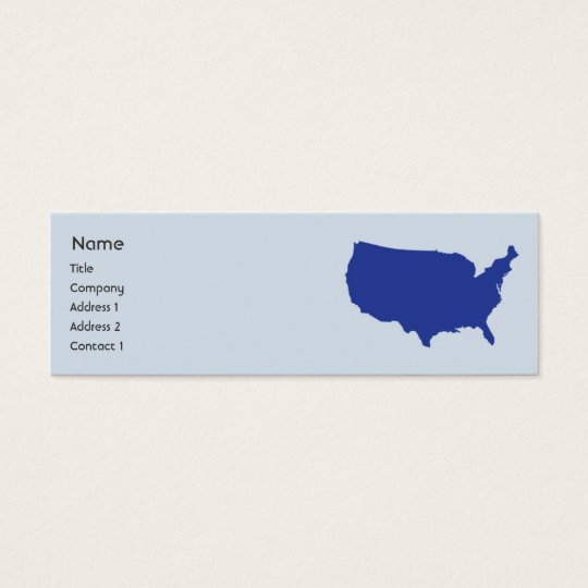 United States Of America - Skinny Mini Business Card