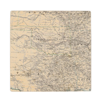 United States of America South Indian Territory Wood Coaster
