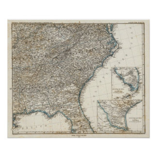 United States of America Southern States Poster
