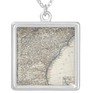 United States of America Southern States Silver Plated Necklace