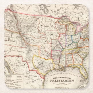 United States of America Square Paper Coaster