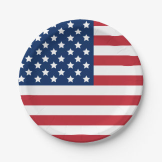 United States of America | Stars and Stripes Flag 7 Inch Paper Plate