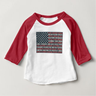 United States Of America | States & Capitals Baby T-Shirt