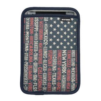 United States Of America  States & Capitals iPad Mini Sleeve