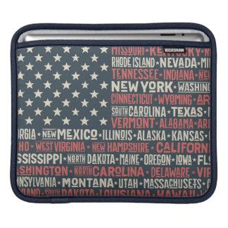 United States Of America |States & Capitals iPad Sleeve