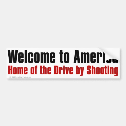 United States of America Travel Advisory Bumper Sticker