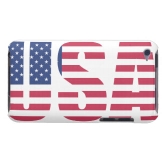 United States of america USA Flag letter design iPod Touch Cases