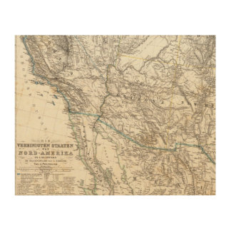 United States of America West Wood Wall Art
