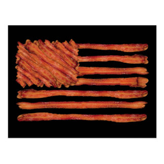 United States of Bacon Flag Postcard