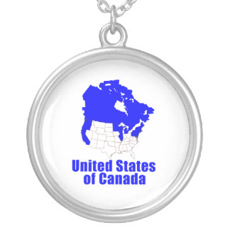 United States of Canada Round Pendant Necklace