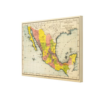United States of Mexico Stretched Canvas Prints