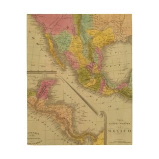 United States Of Mexico Wood Wall Art