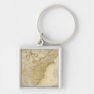United States of North America Atlas Map Key Ring