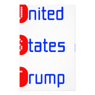 united states of Trump Personalised Stationery