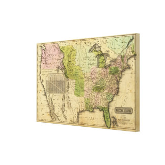 United States Olney Map Canvas Print