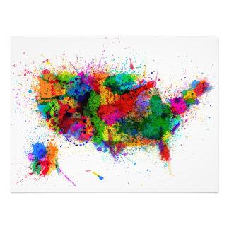 United States Paint Splashes Map Photo