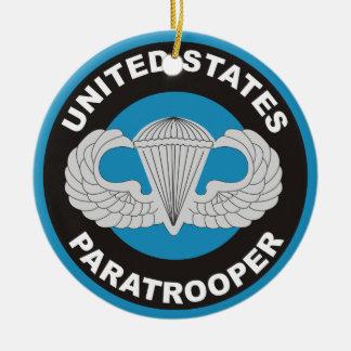 United States Paratrooper Round Ceramic Decoration