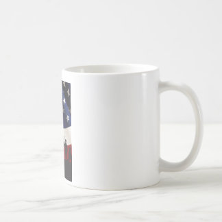 United States Patriot Flag and Military Coffee Mugs