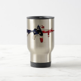 United States Patriot Flag and Military Mugs