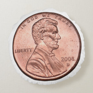 United States Penny Round Cushion