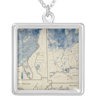 United States population census Silver Plated Necklace