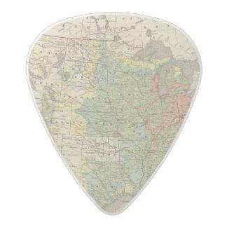 United States Population Density, 1890 Acetal Guitar Pick