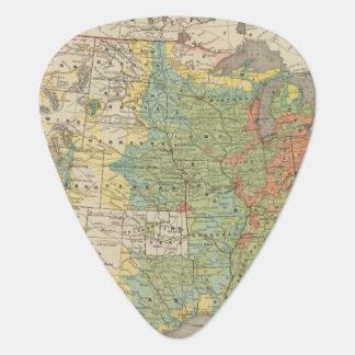 United States Population Density, 1890 Guitar Pick
