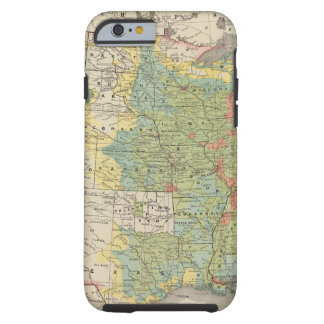 United States Population Density, 1890 Tough iPhone 6 Case