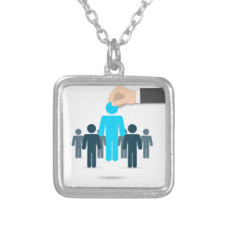 United States presidential election 2016 Square Pendant Necklace