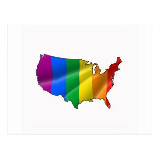 UNITED STATES PRIDE POSTCARD