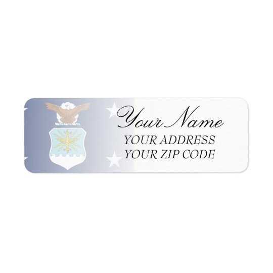 United States Secretary of the Air Force Return Address Label