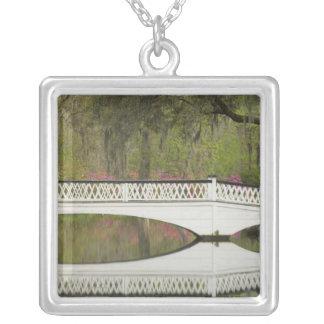 United States; South Carolina; Charleston; 3 Silver Plated Necklace
