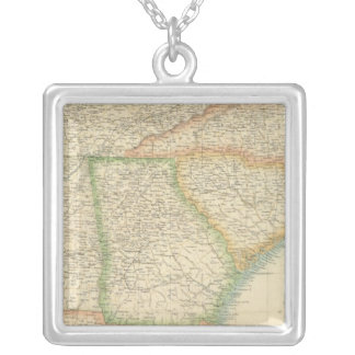 United States South Eastern States Silver Plated Necklace