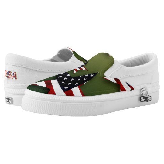 United States stars flag Slip On Shoes