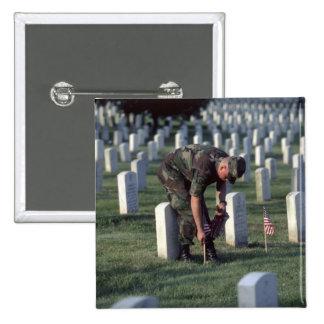 United States, State of Virginia, Arlington. 15 Cm Square Badge