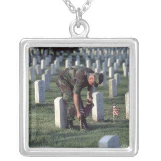 United States, State of Virginia, Arlington. Square Pendant Necklace