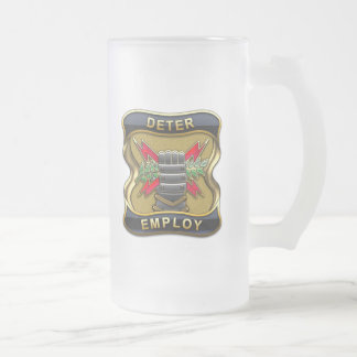 United States Strategic Command Frosted Glass Beer Mug