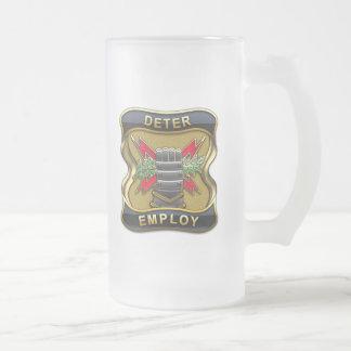 United States Strategic Command Frosted Glass Mug