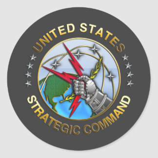 United States Strategic Command Round Sticker