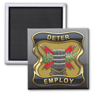 United States Strategic Command Square Magnet