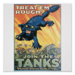 United States Tank Corps. circa 1918 Posters