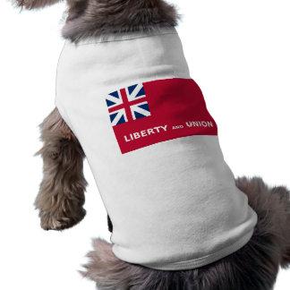 United States Taunton Flag Liberty and Union 1774 Sleeveless Dog Shirt