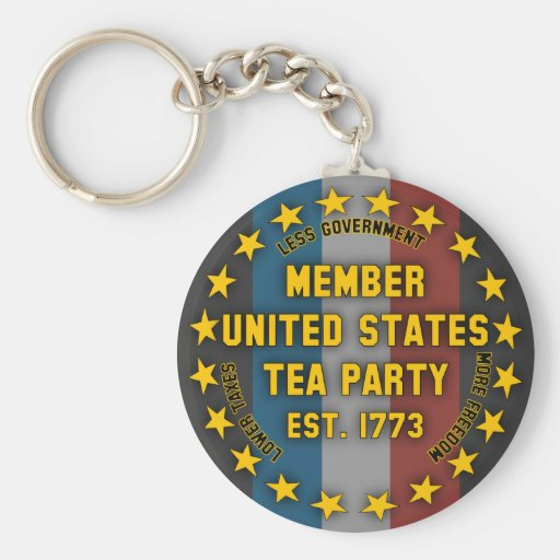 United States Tea Party Keychain