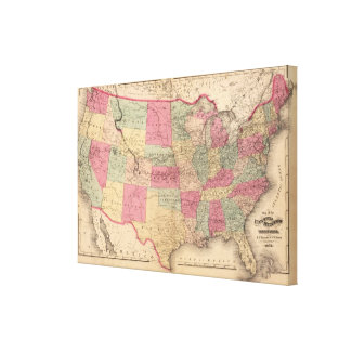 United States & territories Canvas Print