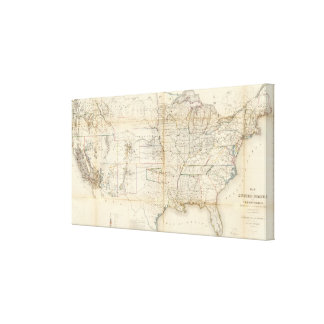 United States, Territories Canvas Print