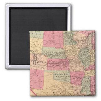 United States & territories Square Magnet