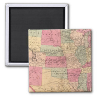 United States & territories Square Magnet